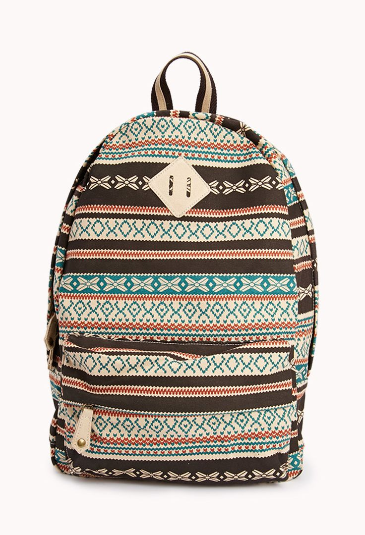 Southwestern Canvas Backpack | FOREVER21 Just throw it in the backpack #Accessories #Printed #Canvas
