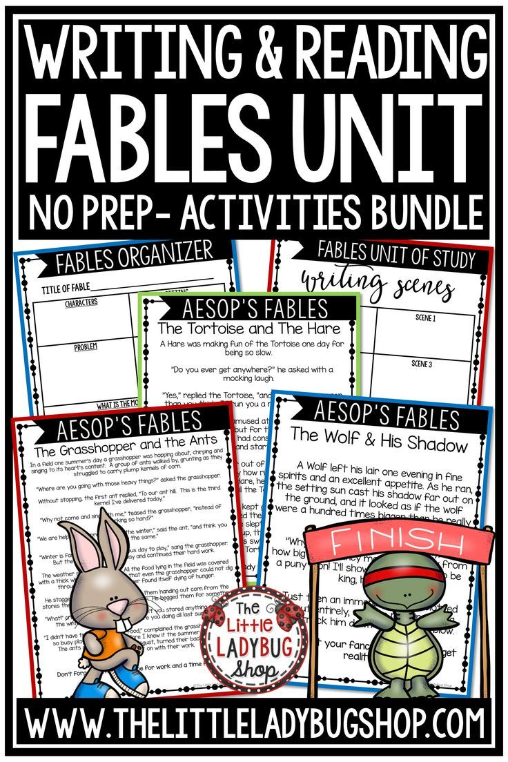 You Will Absolutely Love This Fables Unit For Analyzing And Writing Fables Fables Is Possibly One Fables Activities Reading Graphic Organizers Passage Writing [ 1104 x 736 Pixel ]