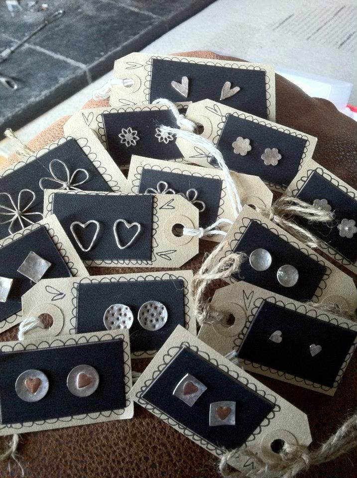 Tags as earrings cards