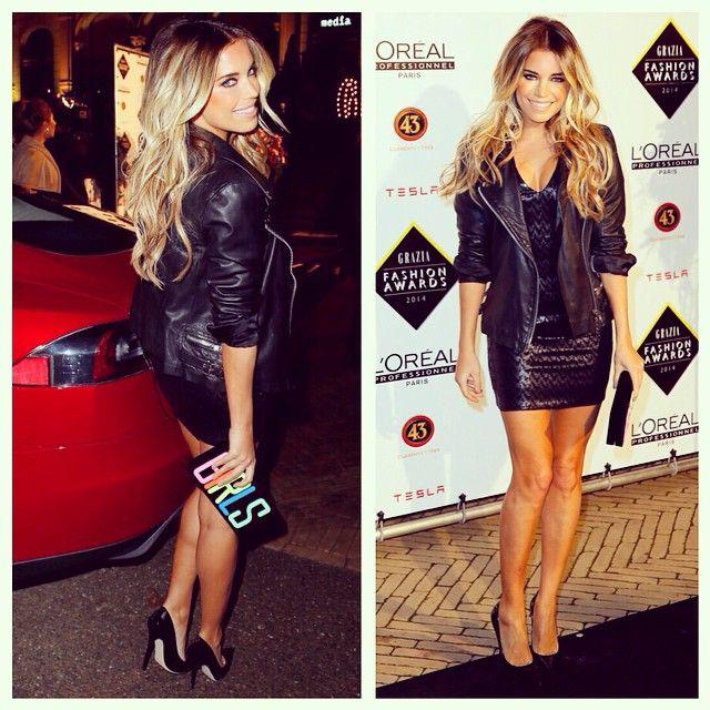 #aboutlastnight  Arrival & Photo-call #grazia #awards. Dress by #saintlaurent Shoes #jimmychoo Clutch #charlotteolympia Leather jacket by #Muse @xellycvk @bydanienl #edwinsmulders