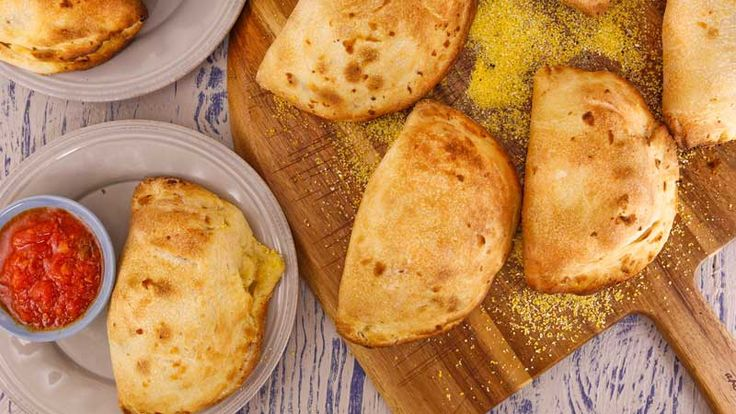 These calzones are perfect for snacking on while curled up on the couch watching award shows
