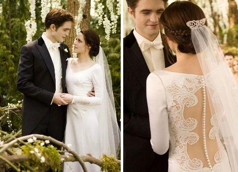 Abito da sposa di Bella Swan nel quarto episodio The Breaking Down della saga Twilight.