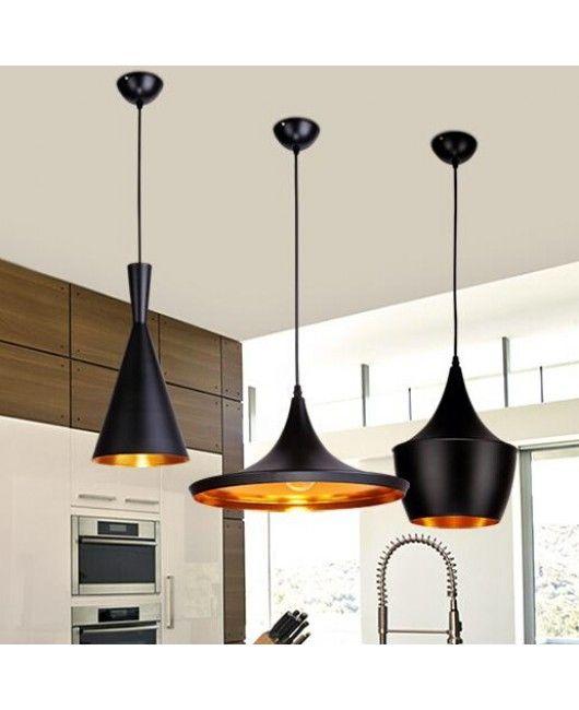 Tom Dixon Pendant Lamp Beat Light Ceiling Shade Copper Lampshade Black White Red