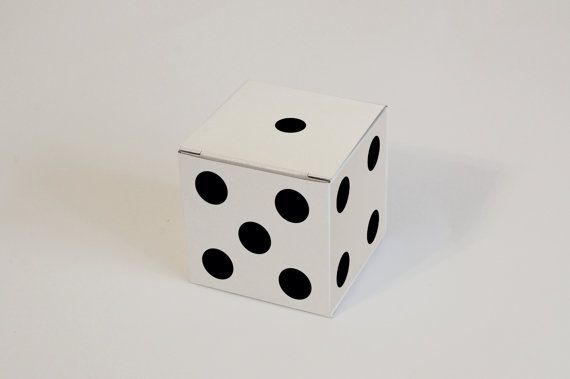 Set of 10 White, Gray and Kraft Natural Dice pattern Gift Boxes 2.36x2.36x2.36 I Cube boxes I Custom boxes
