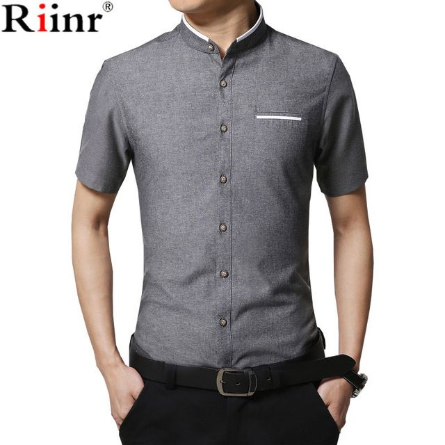 Check it on our site Riinr 2017 New Arrival Men's Summer Fashion Brand Clothing Stylish Slim Fit Patchwork Short Sleeves Dress Shirt Male Leisure just only $11.02 with free shipping worldwide  #shirtsformen Plese click on picture to see our special price for you