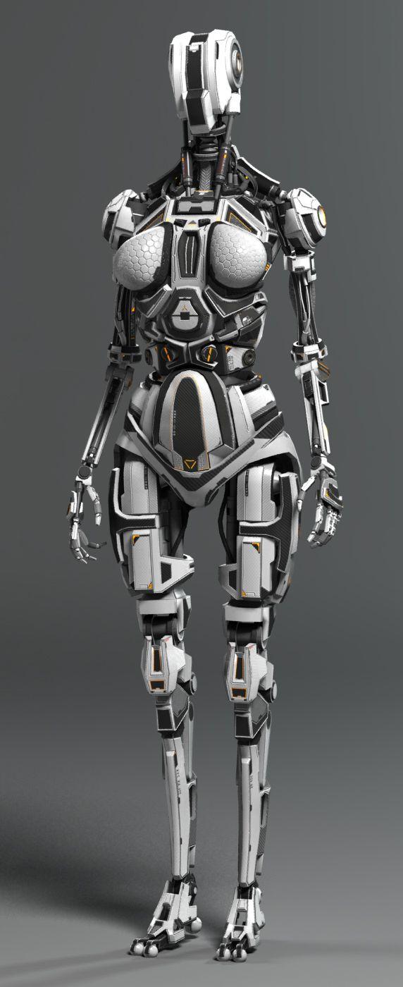 Female Robot by Andrew Crawshaw | Robotic/Cyborg  | cyberspacefuture.com by @evatornado