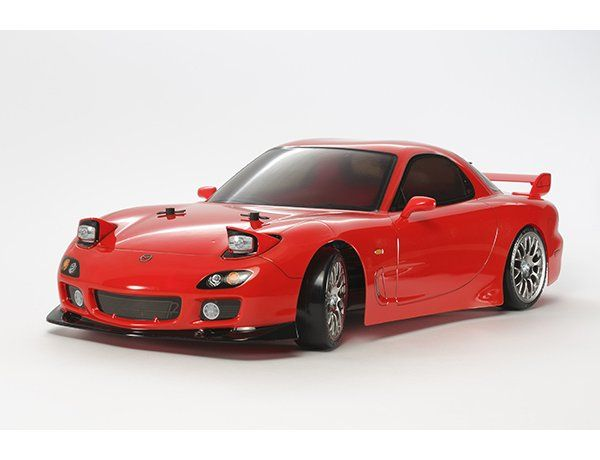 The Tamiya Mazda RX-7 FD3S DRIFT TT-02 D is the latest rc radio control car to feature on the exciting and versatile new TT-02D radio controlled chassis.  The Mazda RX-7 is a classic fan favorite among drift event enthusiasts.