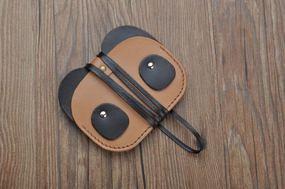 Creative  leather Variety of Panda ID badge wallet by Onequeen