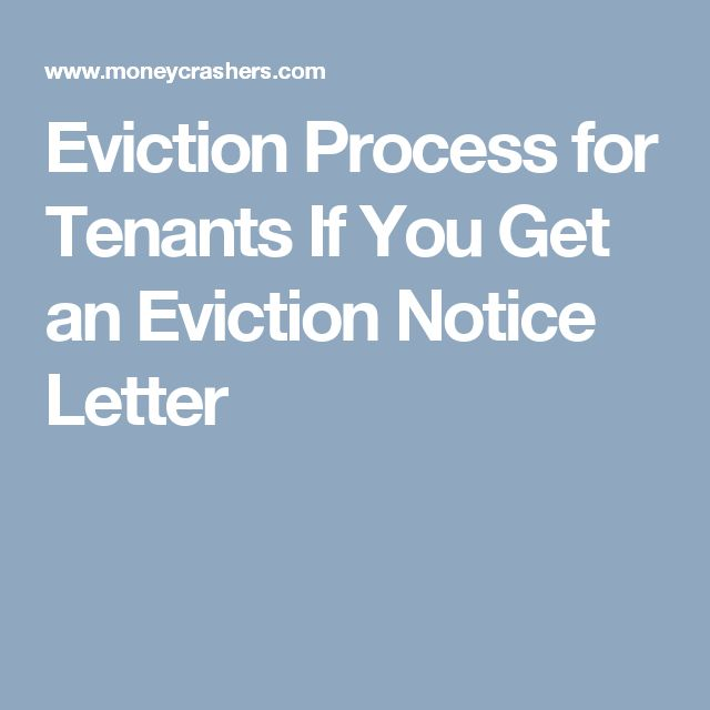 Eviction Process for Tenants If You Get an Eviction Notice Letter
