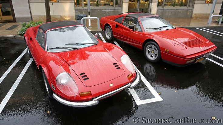 Dino 246 GTS, Ferrari 328 GTS -  The Ferrari 328 is the last Pininfarina link to the Dino 206/246 series.  #Dino246 #FerrariDino246GTS #Dino246GTS #Ferrari328GTS #328GTS #FerrariDino