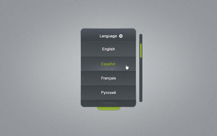 Free Language Selector Combo Box UI Kit - http://www.vectorarea.com/free-language-selector-combo-box-ui-kit