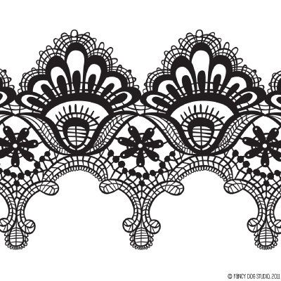 Clip Art Digital Lace Borders Clipart Vector Instant Download