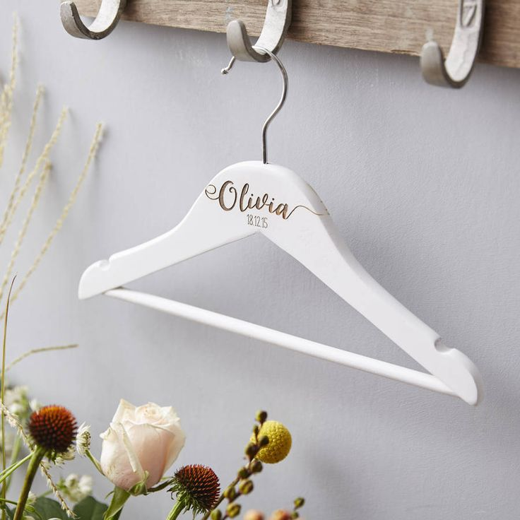 Personalised New Baby Wooden Hanger