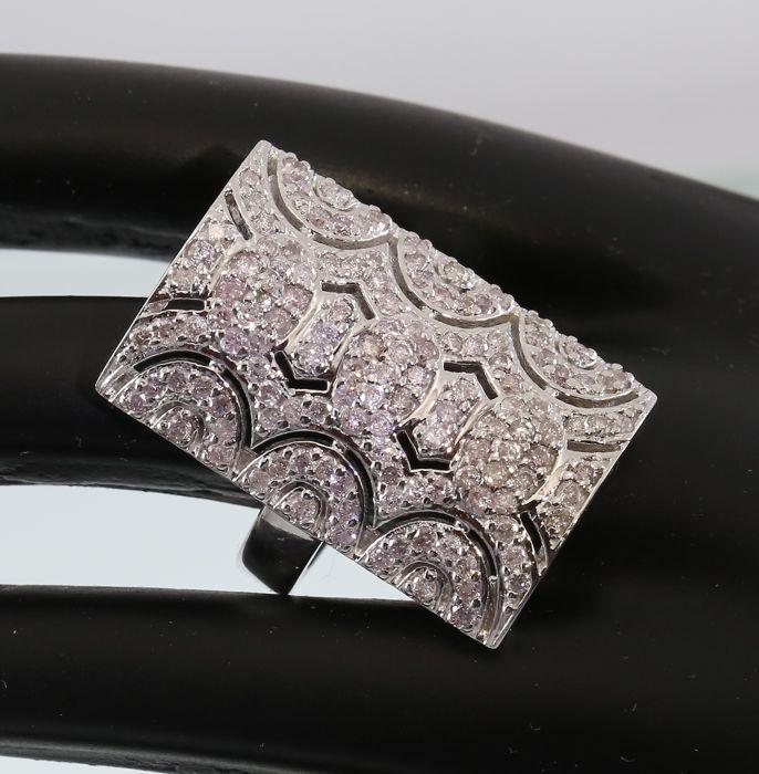 Ontwerper exclusieve wit gouden Ring met roze diamanten van 1.88 ct.  EUR 500.00  Meer informatie
