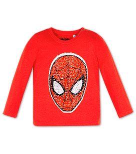 spider man shirt mit wende pailletten in der farbe rot bei c a clamoten pailletten shirt. Black Bedroom Furniture Sets. Home Design Ideas