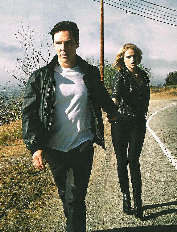 """Cumberbuddies Alice Eve & Benedict Cumberbatch for GQ magazine's 'Brit Pack"""" issue - Spring 2014."""