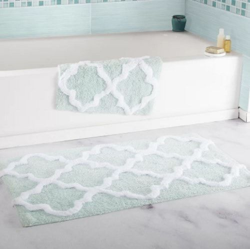 15 Most Soothing Mint Green Bathroom Rugs That Will Amaze You Mit Bildern Badezimmermatte Badvorleger