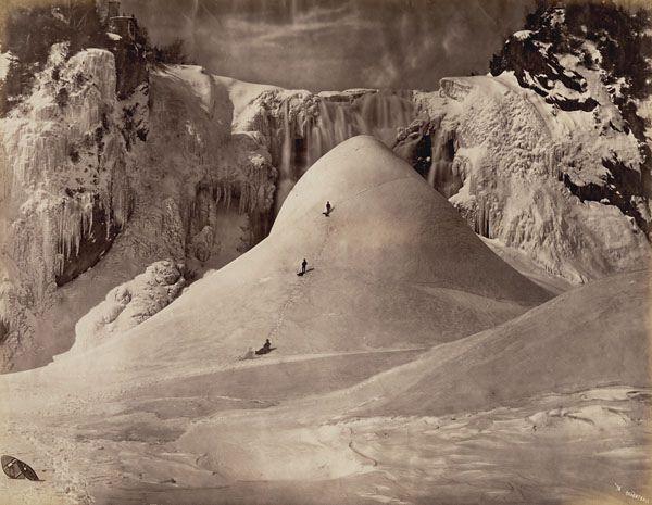Ice cone, Montmorency Falls, 1876 /   Cône de glace à la chute Montmorency, 1876 | by BiblioArchives / LibraryArchives