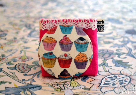 Cupcakes Fabric Pocket Mirror