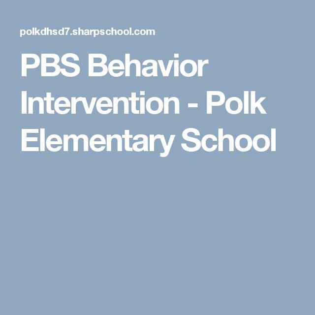 PBS Behavior Intervention - Polk Elementary School