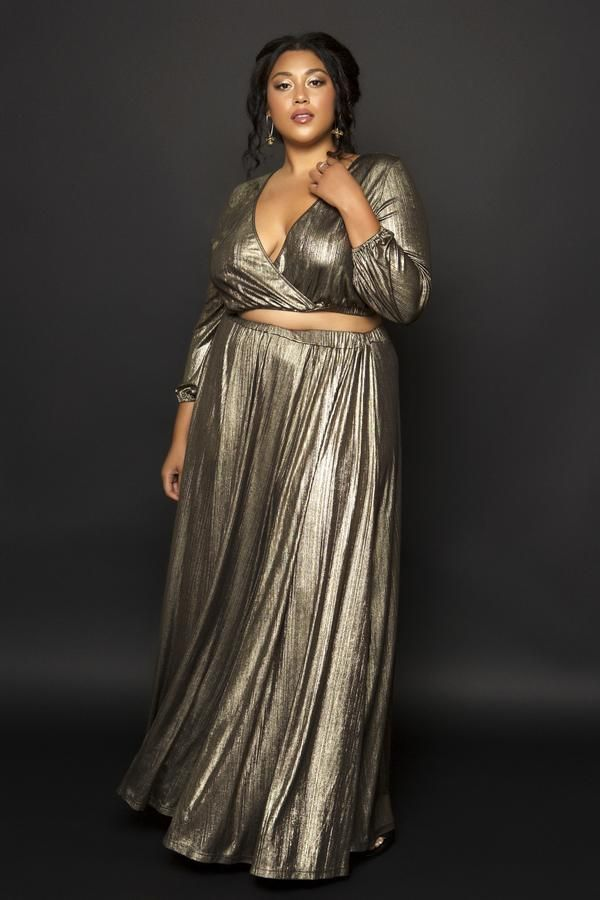 d43aa79ea95 Aurora Gold Maxi Skirt in 2019 | beautiful black women | Plus size ...