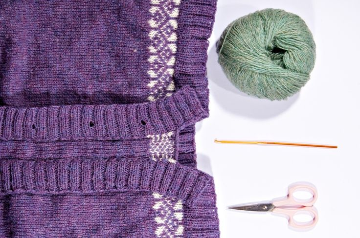 Klipping med heklekant {crocheted steek} | triveligogsurrehue.woolspire.com