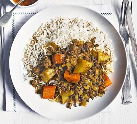 Keema is a traditional Asian dish made with mince - flavour it with spicy curry powder and pack in some carrots and potatoes for extra texture