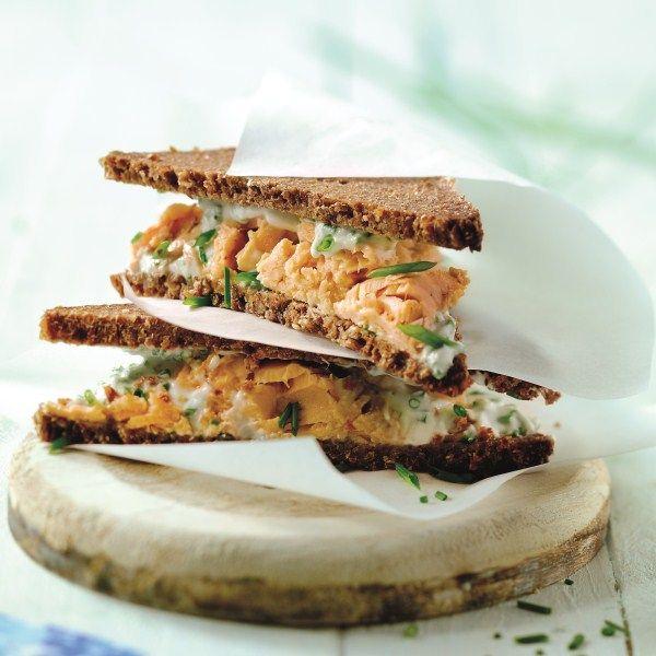 Tip voor de #lunch: een zalmsandwich! #WeightWatchers #WWrecept