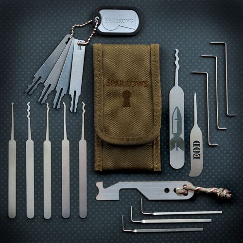 """Innovation in lockpicks: the """"hall pass"""" and the EOD speed-picking set - Boing Boing"""