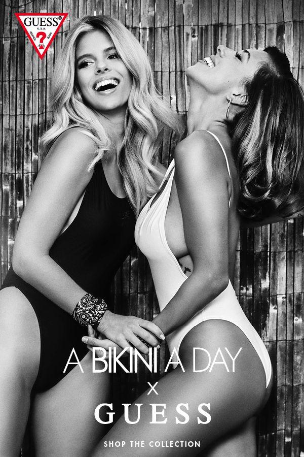 A Bikini A Day x GUESS Swim Collection designed by ultimate beach babes Tash Oakley + Devin Brugman