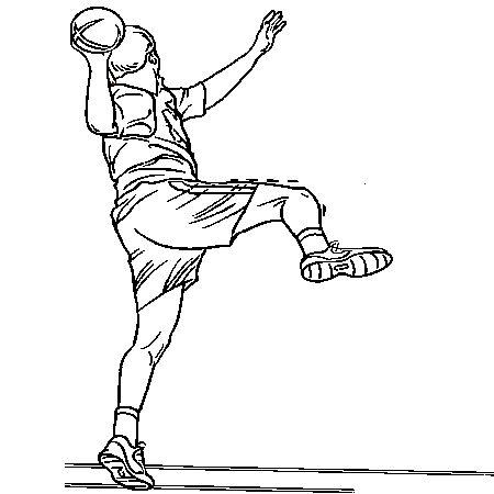 comment dessiner un handballeur | Dessin handball a colorier