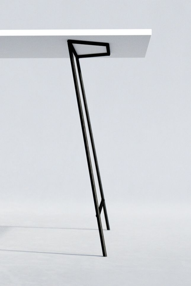 Minimal design metal table legs.                                                                                                                                                                                 More