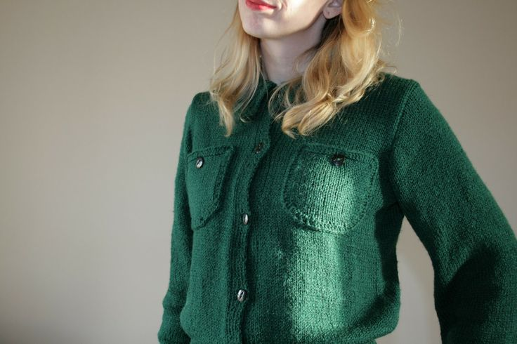 1940s knitted Lumber Jacket from the Australian Women's Weekly