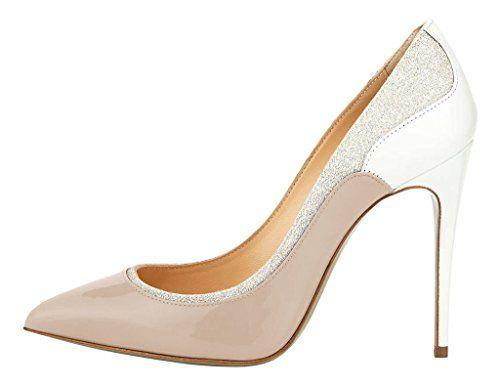 MONICOCO Übergröße Süßigkeit Farben Damenschuhe Spitze Zehen Geschlossene Toe Patchwork Pumps mit Stiletto Absatz Natural 39.5 EU - http://on-line-kaufen.de/monicoco/39-5-eu-monicoco-bergroesse-suessigkeit-farben-5