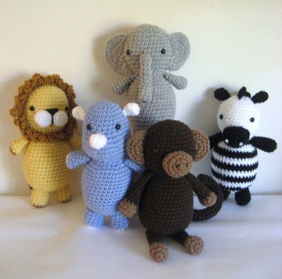 Amigurumi Patterns Crochet Safari Animals Pattern Set PDF