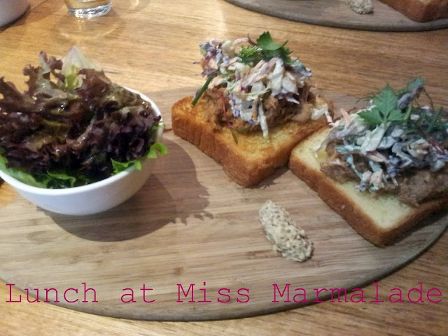 What would Martha do : Lunch at Miss Marmalade Brunswick.