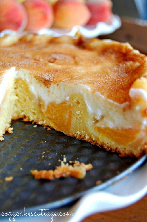 Peaches n' Cream Cobbler Pie. I'm pretty sure this is what grandma used to make.
