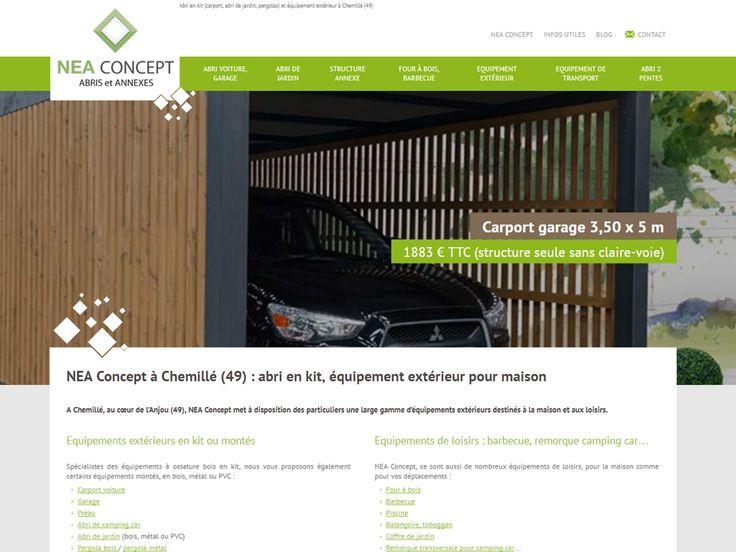 NEA Concept, situé dans le 49 près de Angers, Cholet, Saumur, Nantes, vous propose une large gamme d'abri en kit (carport, abri de jardin, pergolas) et équipement de loisirs (four à bois, barbecue, remorque camping car…).