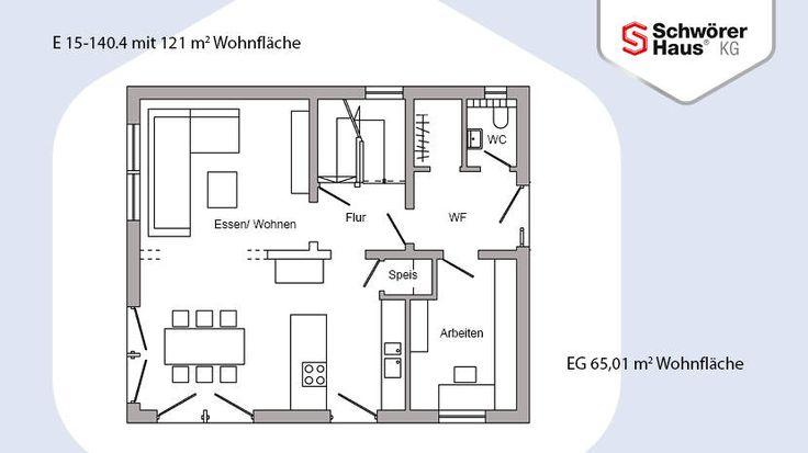 Haus mit Büro - E 15-140.4 - SchwörerHaus KG Arbeitszimmer unten