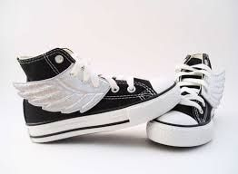 Percy Jackson Converse flying shoes.