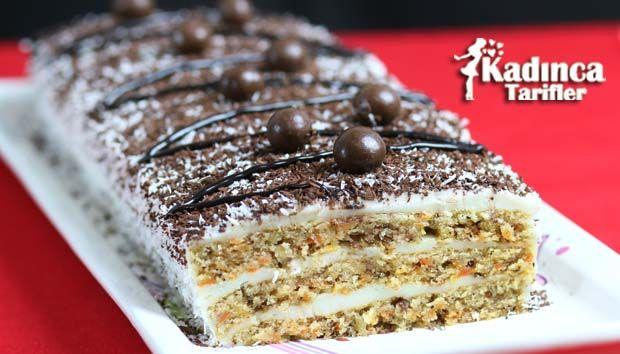 Havuçlu Kekten Pasta Tarifi nasıl yapılır? Havuçlu Kekten Pasta Tarifi'nin malzemeleri, resimli anlatımı ve yapılışı için tıklayın. Yazar: Sümeyra Temel