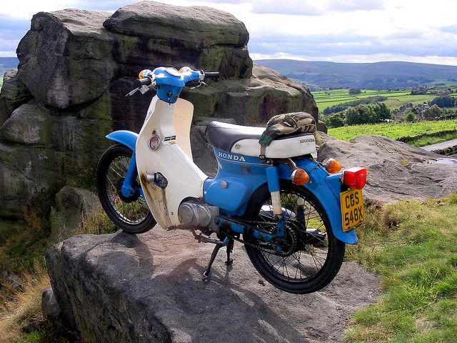 Honda Cub ride - Widdop Moor by Lawrence Peregrine-Trousers, via Flickr