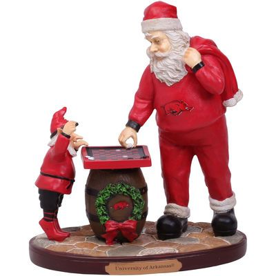 Arkansas Razorbacks Checkerboard Santa Figurine