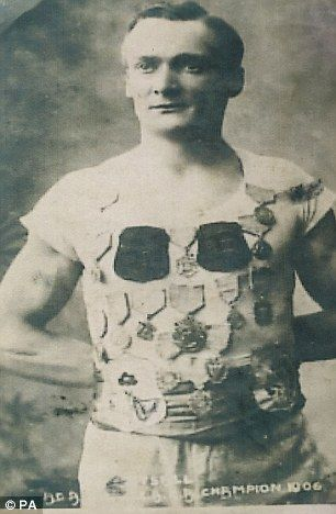 British Olympic gymnast Walter Tysall (1880-1955). Silver medallist at the 1908 London Games.