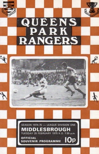 Queens Park Rangers vs Middlesbrough 1975