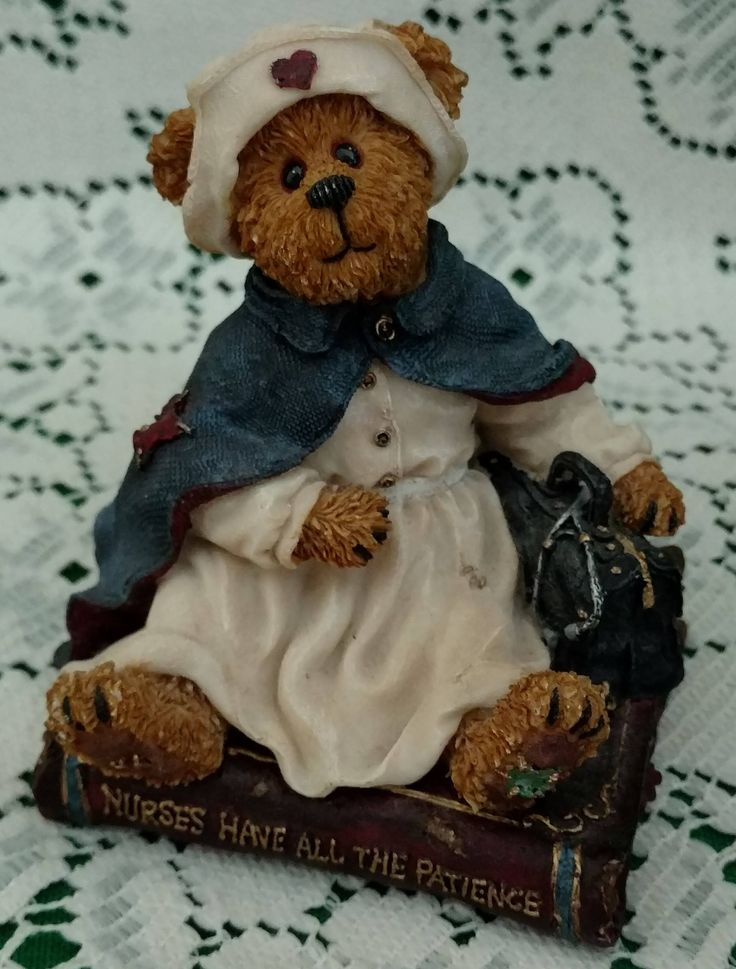 Boyd's Bears NURSE,  Nurses Have All The Patience, Bearstone Collection, 2003, Graduation, Birthday, Non-Profit, Animal Shelter, Charity by SusyQsVintage on Etsy
