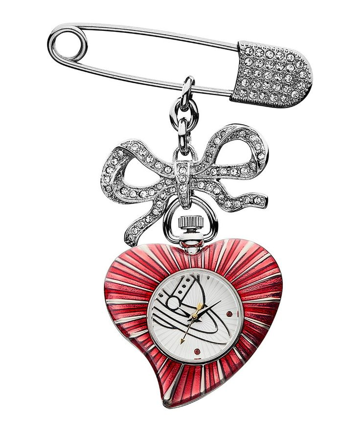 Hearts & bow diamante brooch watch Sale - Vivienne Westwood