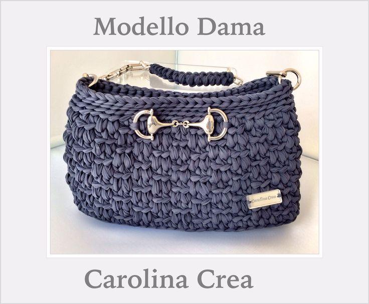 227 best Borse e cesti in fettuccia images on Pinterest | Crochet ...