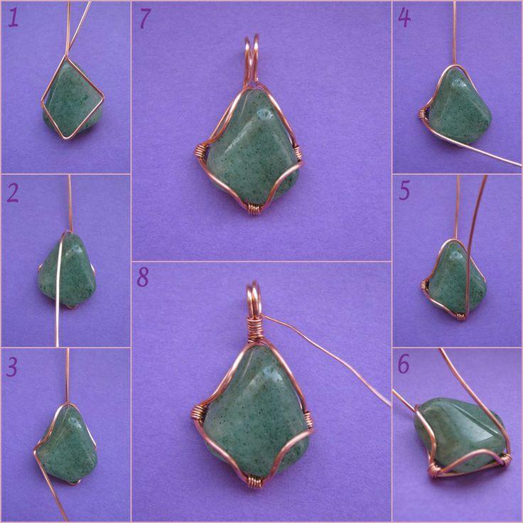 Arames envolvendo pedras para bijuterias                                                                                                                                                                                 Mais