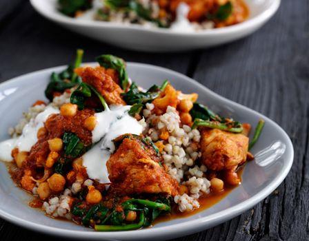 Curry med kylling og raita